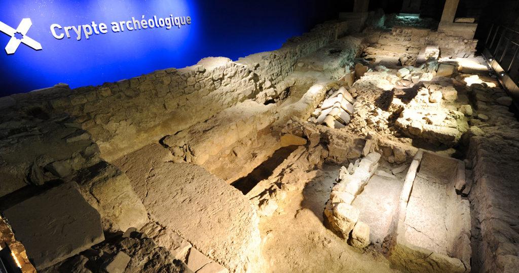 Crypte archéologique N-D du Bourg (Photo Cyrille de Villèle – Mairie de Digne les Bains)