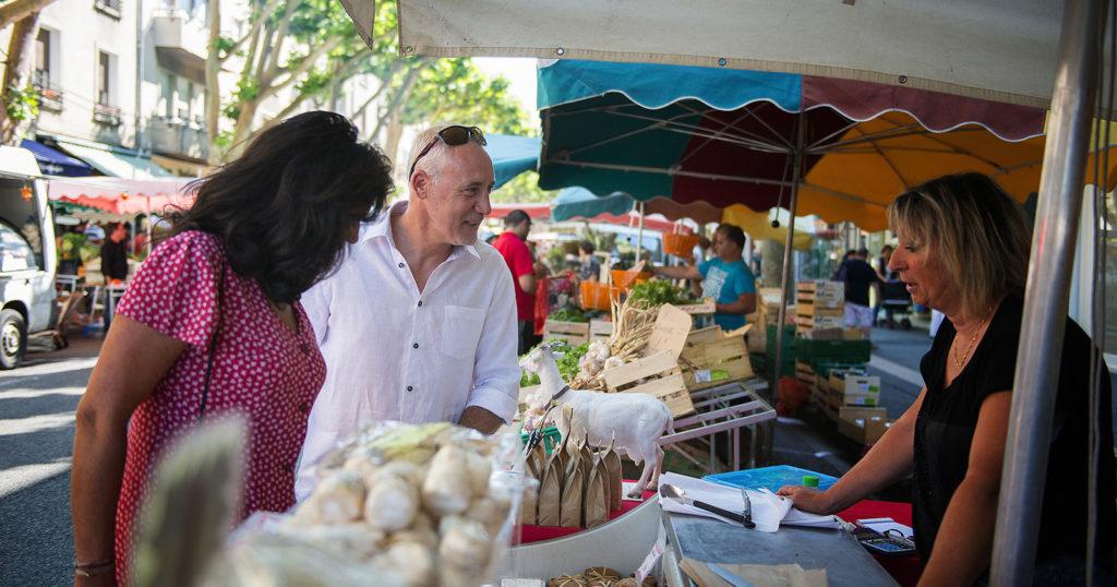 Le marché provençal de Digne les Bains