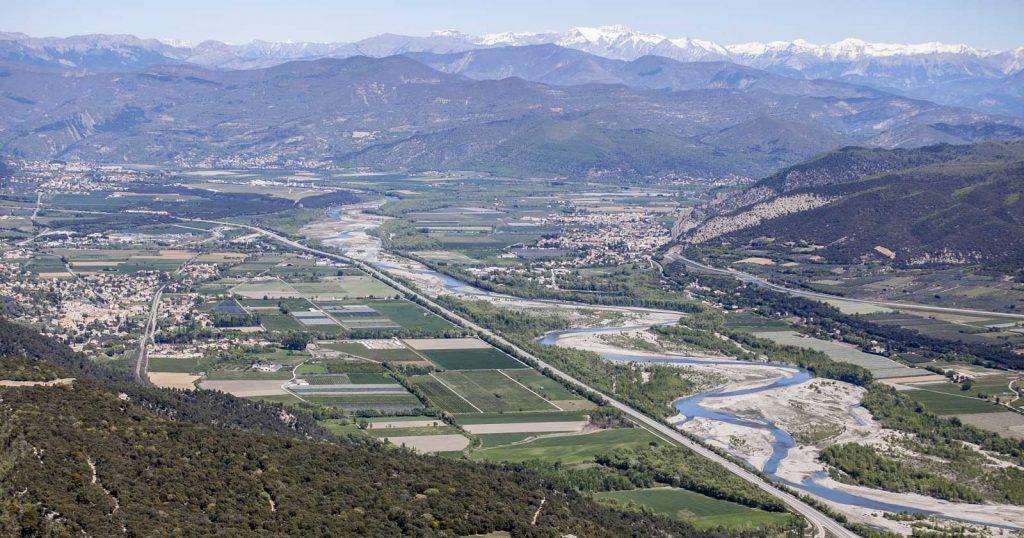 Vue aérienne sur le Val de Durance © Thibaut Vergoz