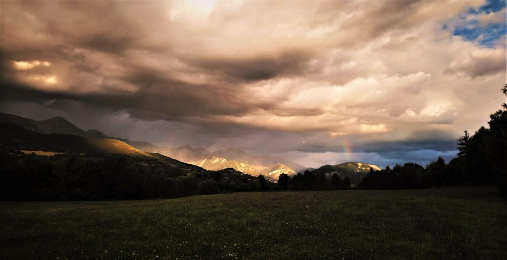 Paysage de montagne dans la Vallée de la Blanche