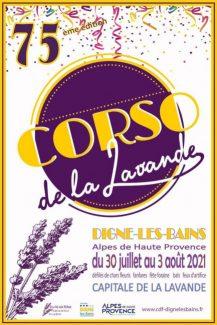 Affiche du Corso de la Lavande édition 2021