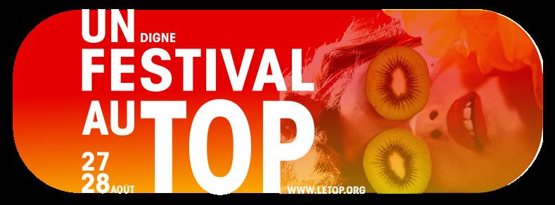 visuel de la sixième édition du festival du Top