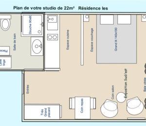 Studio 14 Résidence Les Thermes – Digne les Bains