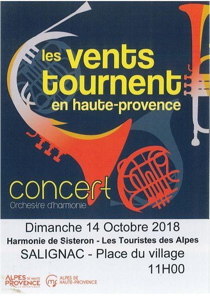 Concert orchestre d'harmonie Les Vents Tournent