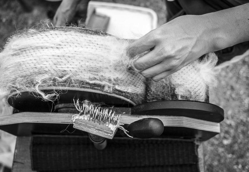 Atelier laine filage