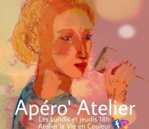 Apéro'Atelier – Dessin au pastel de Nathalie Le Royer