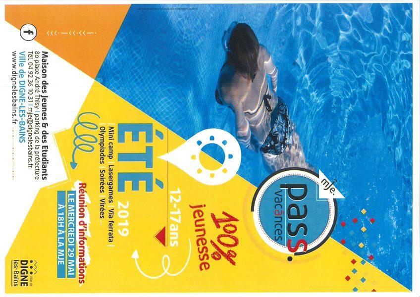 Affiche Pass' Vacances été 2019